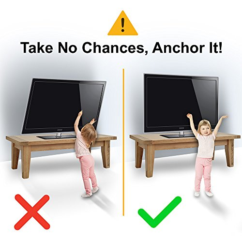 ELLAS-FURNITURE-STRAP-Heavy-Duty-TV-Straps-No-Plastic-Parts-Anti-Tip-Earthquake-Resistant-Furniture-Anchor-Best-Wall-Anchors-TV-Anchor-for-Children-Child-Baby-Proof-Black-4-Pack
