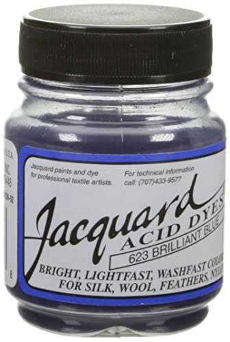 Acid Dyes (Jacquard Acid Dyes 1/2 Ounce-Brilliant Blue)