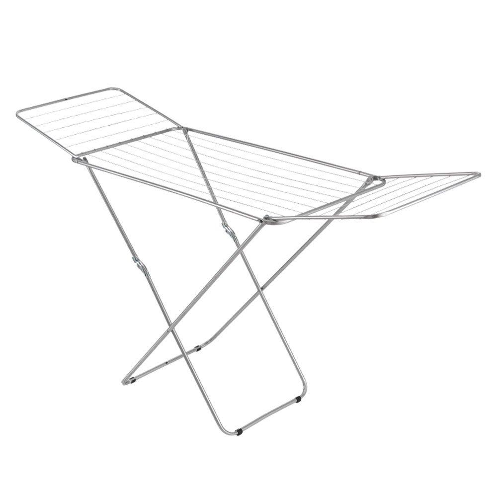 Metaltex Vulcano - Tendedero epoxi con alas, 18 metros de tendido, gris
