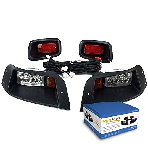 NEW RecPro EZGO TXT ADJUSTABLE GOLF CART ALL LED LIGHT KIT 1996-2013]()