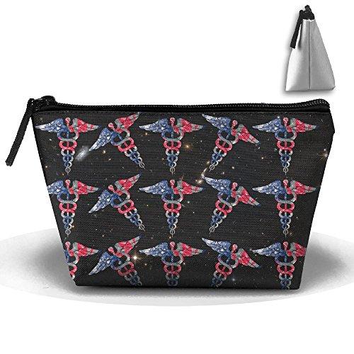 EMT American British Flag Retro Metal Large Portable Makeup Bag Pouch Tote Handbag Work Bag With - Emt Sunglasses