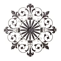 Wrought Iron Wall Grille Decor from images-na.ssl-images-amazon.com