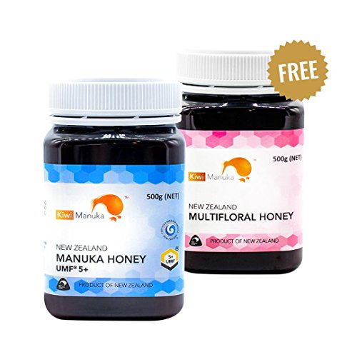 Kiwi Manuka Honey - UMF 5+ 500g | Informal Multi-floral 500g | 100% New Zealand Raw Pure Honey | Fair trade sustainable Brand | Best supplement for daily consumption