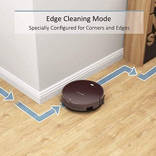 Aspirateur Robot Tesvor V300, connexion WiFi,100 min d'autonomie et jusqu'à 150m², pour sols durs et poils d\'animaux, Compatible avec Alexa et Google Home