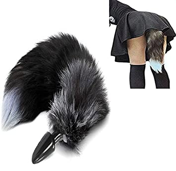 707f0fa0e Image Unavailable. Image not available for. Color  Fox Tail Butt Plug  Silicone Anal ...