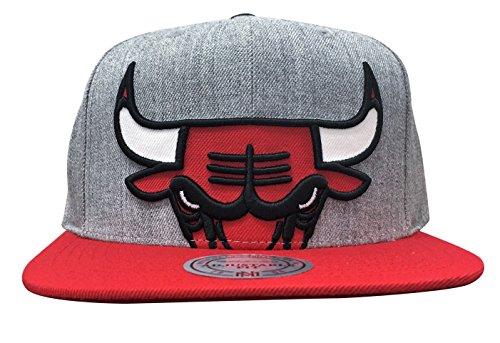 Mitchell & Ness Chicago Bulls Cropped Split Heather Snapback Heather ()