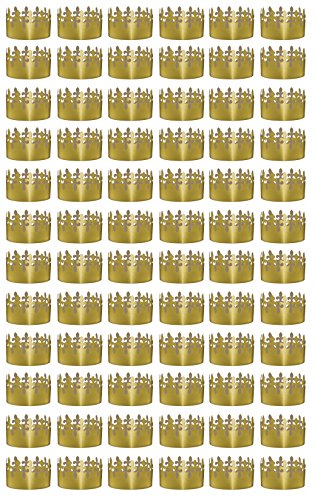 Beistle 66054 72-Pack Gold Foil Fleur De Lis Crowns