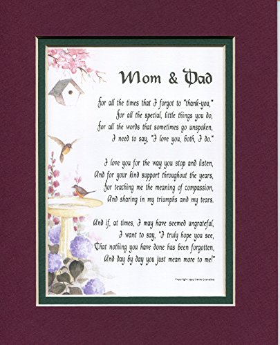 A Present For Mom and Dad Poem #135, A Gift For Parents' Anniversary