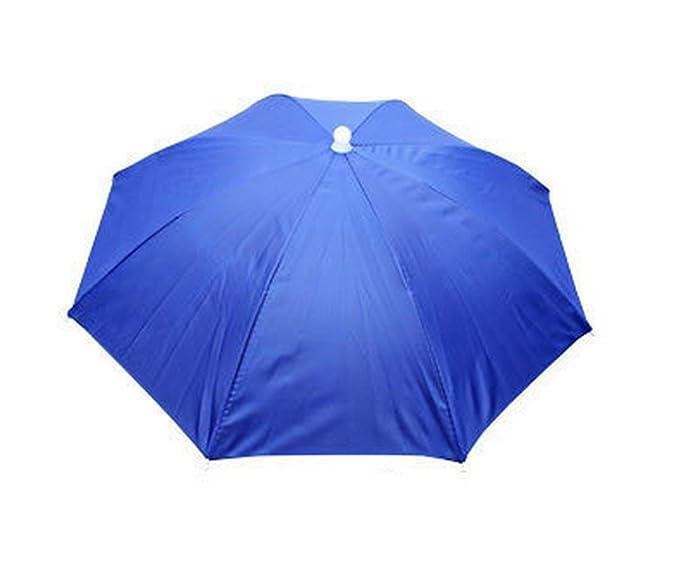 03c001cdb63 Amazon.com  Blue Umbrella Hat Headwear for Fishing Sun Rain  Clothing