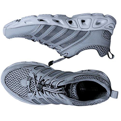 Free Soldier - Zapatillas deportivas de exterior ligeras y transpirables de secado rápido para hombres gris