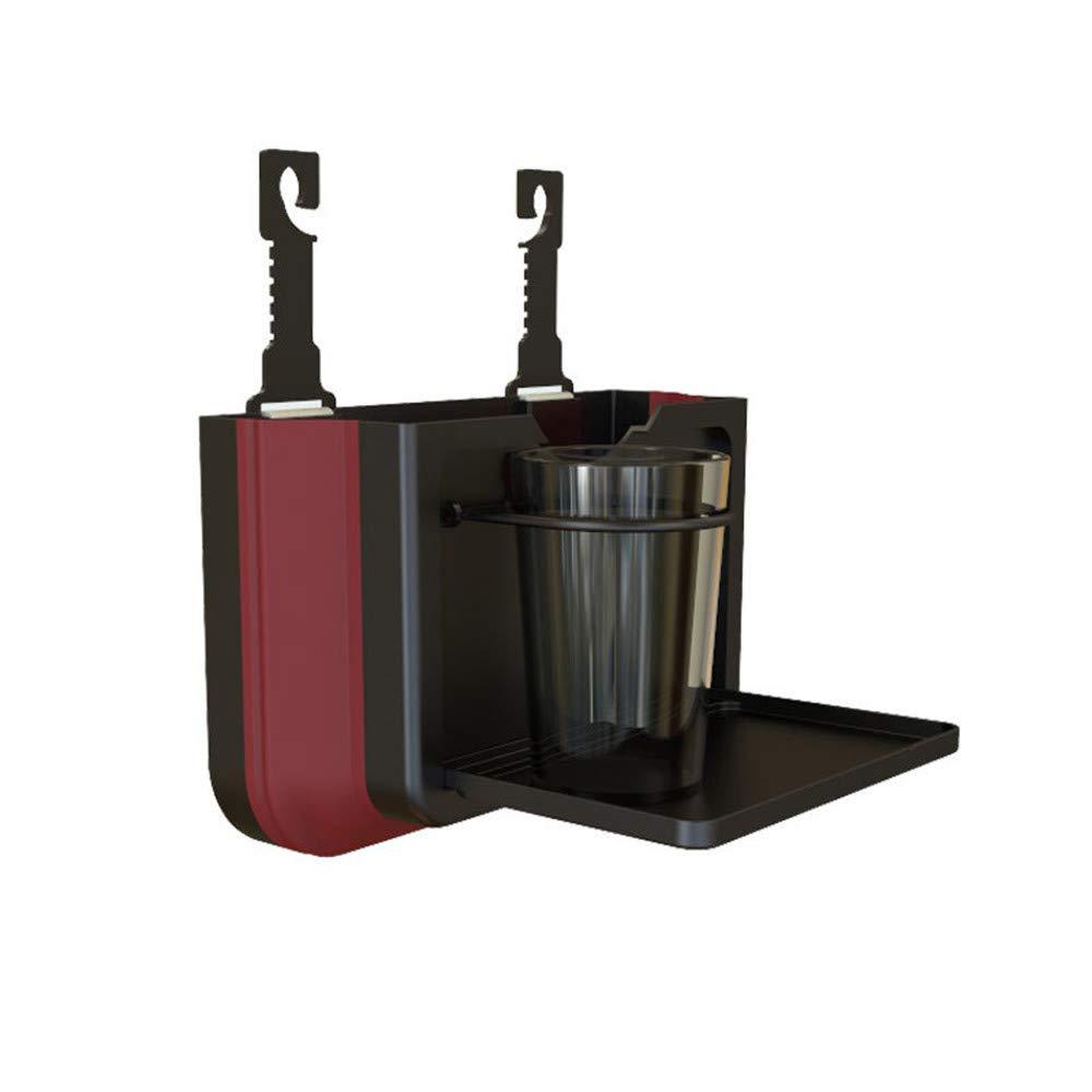 Codiak for vehicle Car Trash Bin Cup Holder Hanging Clip Hook Folding Retractable Garbage Can Shelf Shelving Tray Shelf Rack (Black)