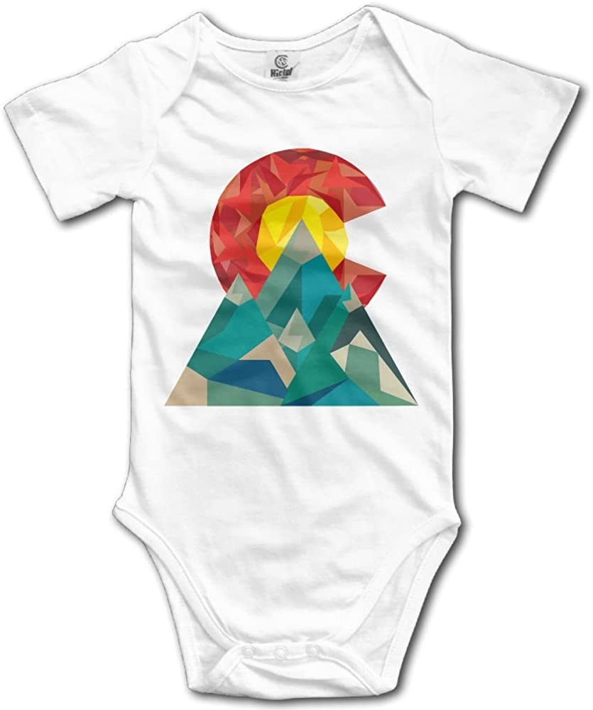 Arromper Colorado Geo Newborn Short Sleeve Jumpsuit Outfits White