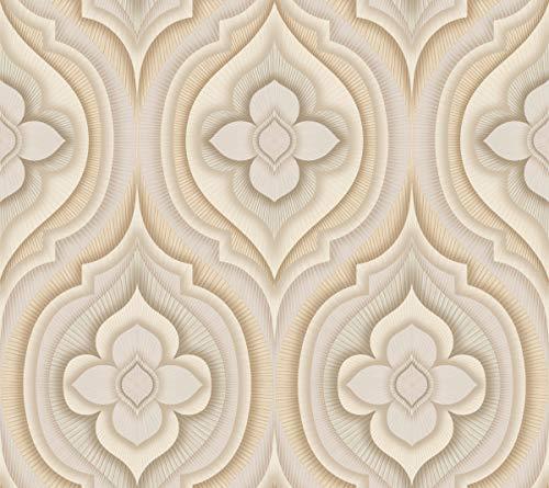 - Décor Direct YWSN1314 Rhapsody Wallpaper, x 27 ft. = 60.75 sq.ft, in Cream, Beige, Grey, Khaki