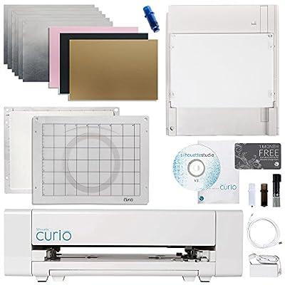 Silhouette Curio Digital Crafting Machine with Metal Etching Bundle