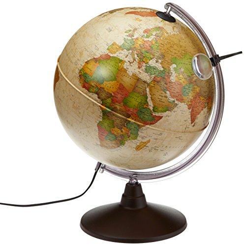 Idena 569904 - Geografischer Globus mit Licht und Lupe, 30 cm