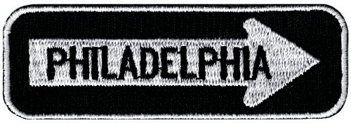 - One Way Sign Philadelphia Embroidered Patch Iron-On Highway Road Biker