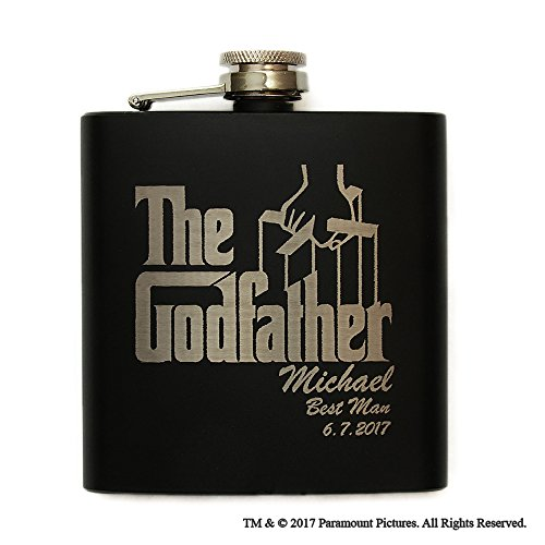 Movies On Glass - Personalized Godfather Movie Engraved Logo Wedding (Spirit Of The Glass Movie)