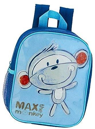 005751a5f5944 Kinderrucksack - Max the Monkey - 413 Mini Kinder Rucksack mit Brustgurt  Adressfach Kindergartentasche