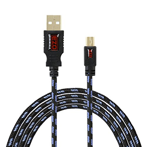 Mini-USB Cable, EZOPower 10 Feet Mini-USB 5-Pin Tangled Free