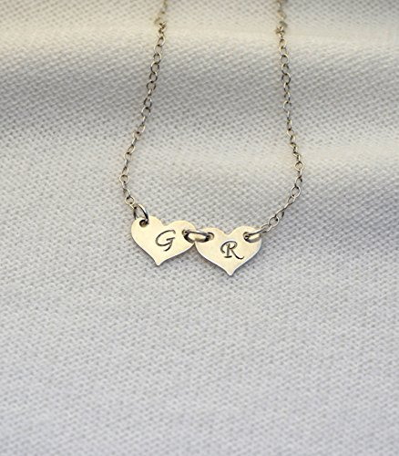 PERSONALIZED HEART NECKLACE // Initial Heart Necklace - Silver Heart Necklace - Monogram Necklace - Personalized Necklace - Letter Necklace