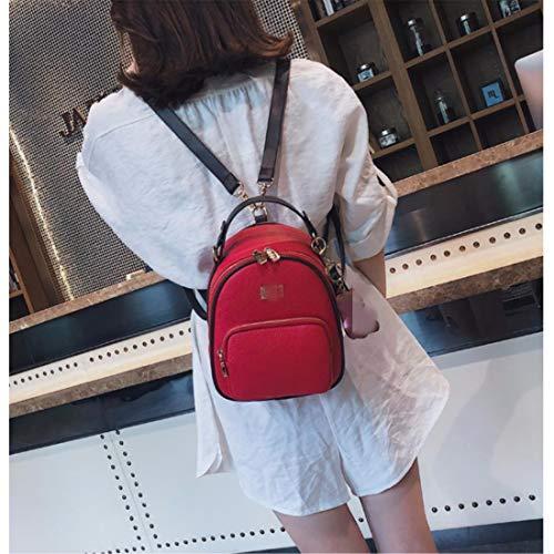 Moda Bolso Mochila Marea Mujer Bag Rojo De Mini Messenger Hombro Fannb Odpqzxz