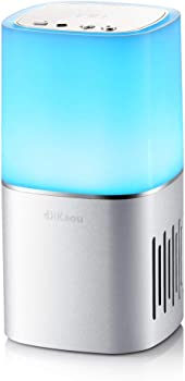 DiKaou Touch Bedside Lamp with Bluetooth Speaker Built-in Micro SD Card