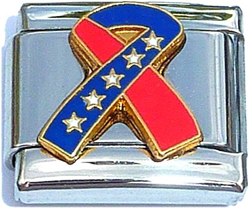 Red And Blue Ribbon Italian Charm