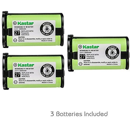 Hhr P513 Type - Kastar HHR-P513 Battery 3-Pack, Type 27 Replacement for Panasonic HHR-P513 HHR-P513A HHR-P513A1B HRR-P513A1B KX-TG2208 KX-TG2214W KX-TG2216 KX-TG2216SV KX-TG2224 KX-TG2224W KX-TG2226 KX-TG2226BV