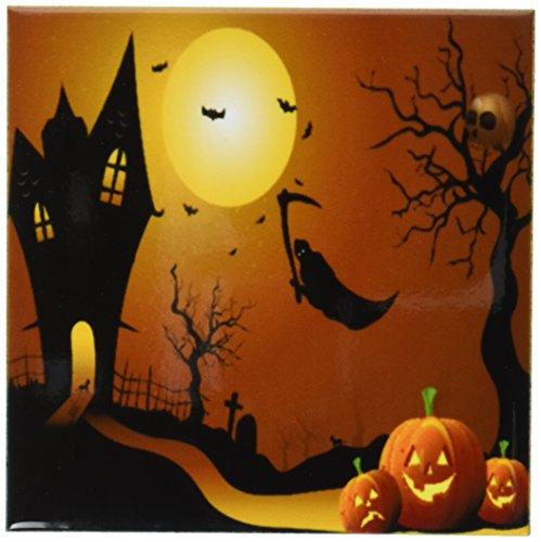 3dRose cst 152289 3 Halloween Pumpkins Coasters