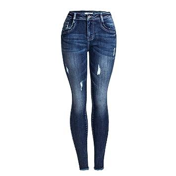 Pantalones vaqueros de las señoras Vaqueros ajustados de ...