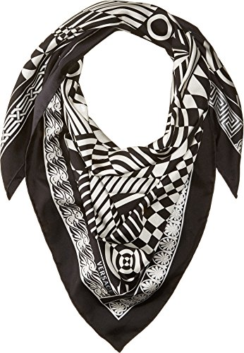 Versace  Men's Graphic Print Scarf Black/White One - Versace Made In