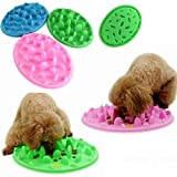 Saver Dog Cat Slow Eating Feeder Anti Choke Pets Bowl Feed Dish Puppy Silicone Gulp