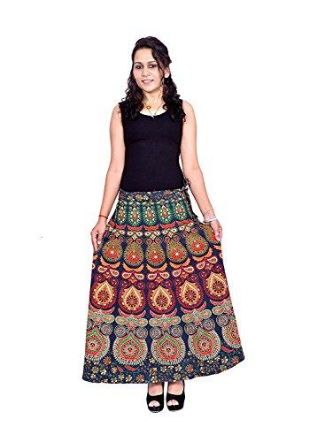 Indian Handicrfats Export N2CREATIONS Printed Women Wrap Around Multicolor Skirt