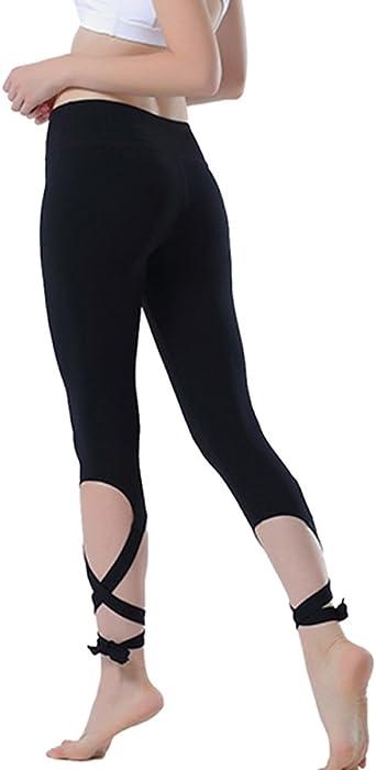 efeeddb1246b Yoga Pants Yoga Capris Leggings - Gifts for Women no See Through Yoga  Leggings 4 Way Stretch Dance Pants with Pocket