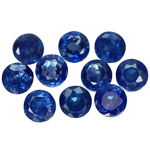 2.79CT LOVELY VVS 10PCS ROUND HEATED ONLY BLUE THATILAND SAPPHIRE (Heated Round Blue Sapphire)