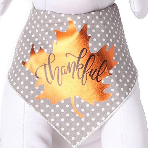 Tail Trends Dog Bandanas with Thanksgiving Thankful Screen for Medium to Large Sized Dog - 100% (Thanksgiving Costumes For Dogs)