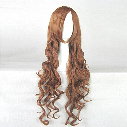 Axis powers Hetalia APH Taiwan Red Brown Curly 80CM Long Cosplay Party Wig + Free Wig Cap
