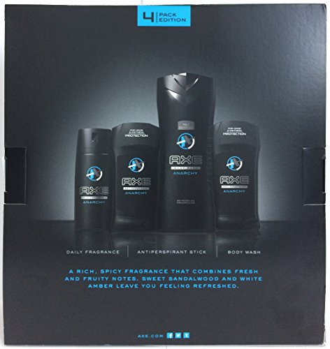 Axe For Men Gift Set - 2016 Collection - Anarchy - Gift Set Includes: 1x Daily Fragrance, 2x Antiperspirant, & 1x Body Wash - One Gift Set