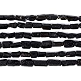 Natural Black Tourmaline Facet Nugget Chips Loose Gemstone Beads Strand 16'