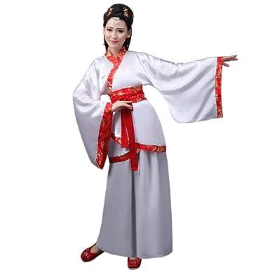 DAZISEN Ropa de Mujer Hanfu - Ropa de Estilo Chino Antiguo Traje de Vestimenta Tradicional Nacional Actuaciones Cosplay Disfraz