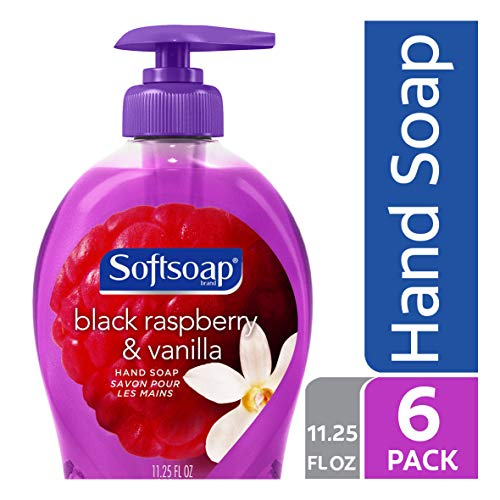 Softsoap Liquid Hand Soap, Black Raspberry and Vanilla - 11.25 fluid ounce (6 Pack)