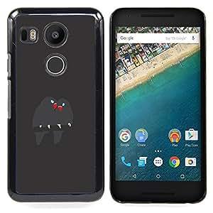 - Cute Birds Branch Grey Beak Love - - Snap-On Rugged Hard Cover Case Funny HouseFOR LG Google Nexus 5X
