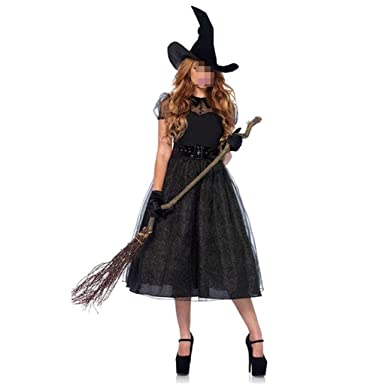 KODH Disfraz de Halloween for mujer Disfraz de bruja for adultos ...