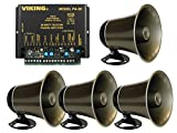 Viking 30 Watt Paging Amplifier with Loud Ringing and 4 Powered Speaker