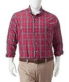 Chaps Men's Big & Tall Preppy Plaid Woven Shirt (4X-Large Big, Chaps Red)