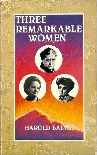 Book Three Remarkable Women by Harold Balyoz (1986-10-02)