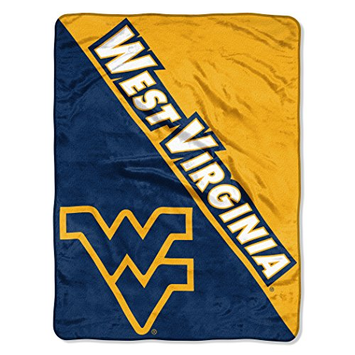 - The Northwest Company Officially Licensed NCAA West Virginia Mountaineers Halftone Micro Raschel Throw Blanket, 46