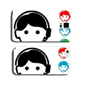 Pictograph icon telemarketer with various colors cell phone cover case iPhone6 Plus