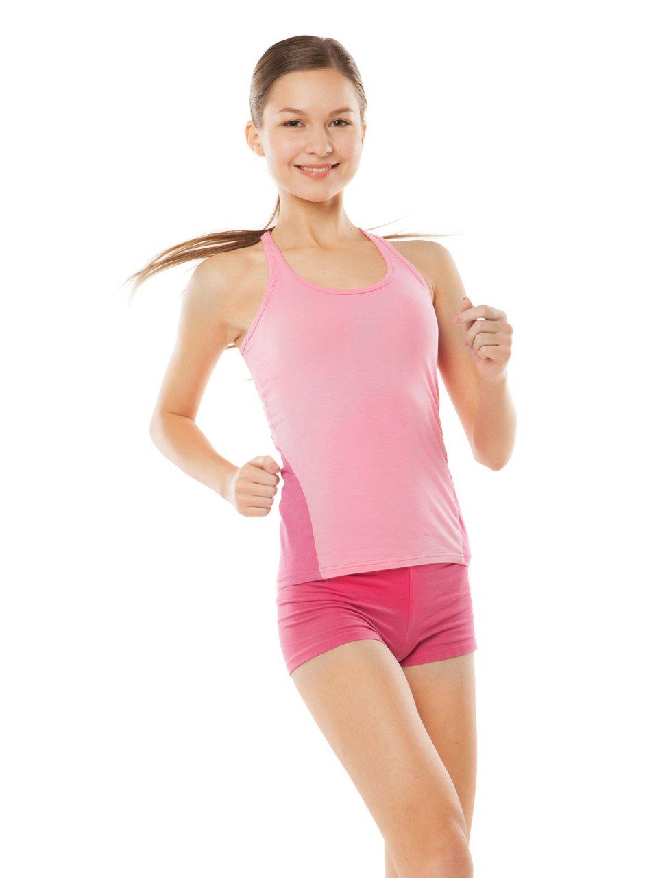 Vivian's Fashions Legging Shorts - Girls, Boy-Shorts, Cotton (Fuchsia, Medium)
