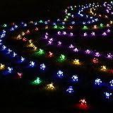 Kyson Solar Fairy String Lights 21ft 50 LED Multicolor Blossom Decorative Gardens, Lawn, Patio, Christmas Trees, Weddings, Parties